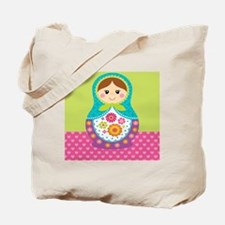 Square Matryoshka Tote Bag