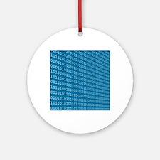 Binary code, artwork Round Ornament