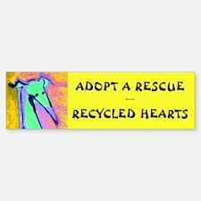 Recycled Hearts Bumper Bumper Bumper Sticker