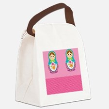Curtains Canvas Lunch Bag