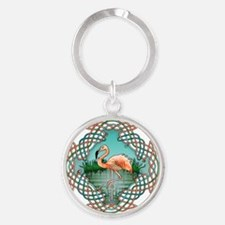 Celtic Flamingo Art Keychains