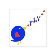 """Cute Love Bird Square Sticker 3"""" x 3"""""""