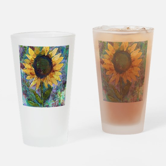Sunflower Sunday Art Drinking Glass