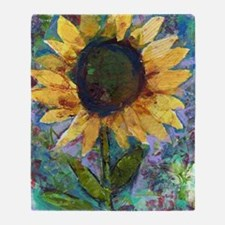 Sunflower Sunday Art Throw Blanket