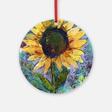 Sunflower Sunday Art Round Ornament