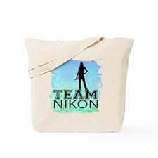 Team Nikon Watercolor Tote Bag