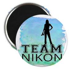 Team Nikon Watercolor Magnet