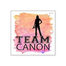 """Team Canon Watercolor Square Sticker 3"""" x 3"""""""