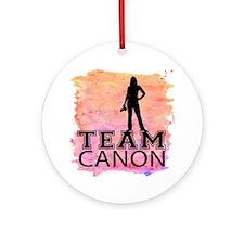 Team Canon Watercolor Round Ornament