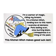 Norwegian Good Luck Kitchen Witch M 3'x5' Area Rug