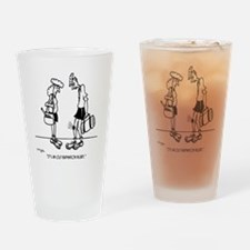 An Old Badminton Injury Drinking Glass