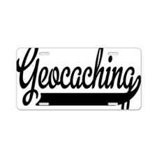 Geocaching Aluminum License Plate