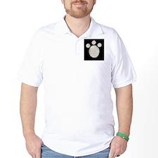 Black  White Paw Print T-Shirt