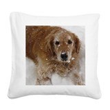 Golden retriever Square Canvas Pillows