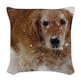 Golden retriever Woven Pillows