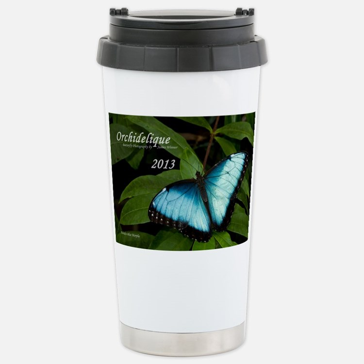 Peleides Blue Morpho Bu Travel Mug