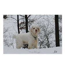 Clumber spaniel wall cale Postcards (Package of 8)