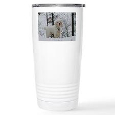 Clumber spaniel wall ca Travel Coffee Mug