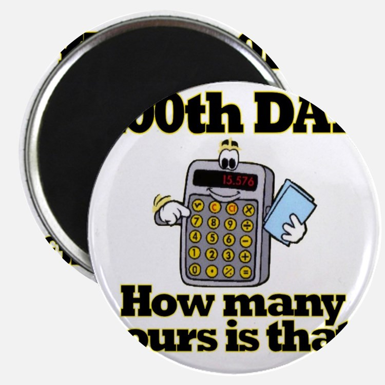 100th Day Calculator Magnet