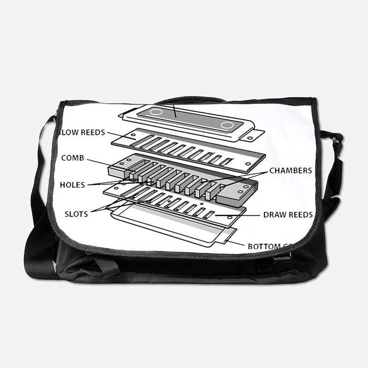 Harmonica Exploded Messenger Bag