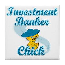 Investment Banker Chick #3 Tile Coaster