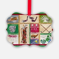 Golf Collage Ornament