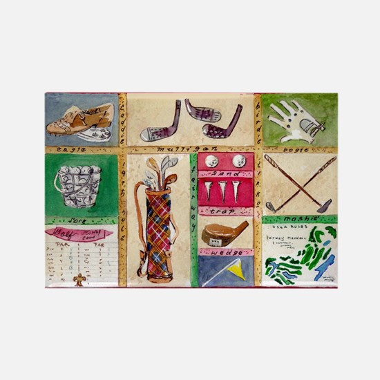 Golf Collage Rectangle Magnet