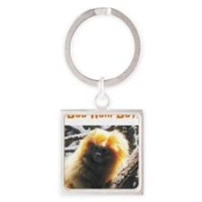Bad Hair Day! Square Keychain