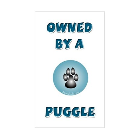Owned by a Puggle Rectangle Sticker