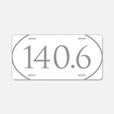 140.6 Triathlon Aluminum License Plate