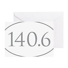140.6 Triathlon Greeting Card