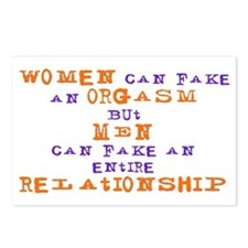 Women Can Fake Postcards (Package of 8)