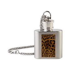 Leopard phone case Flask Necklace