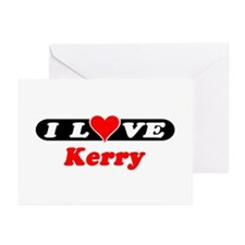 I Love Kerry Greeting Cards (Pk of 10)
