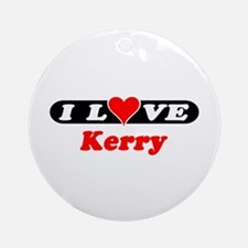 I Love Kerry Ornament (Round)