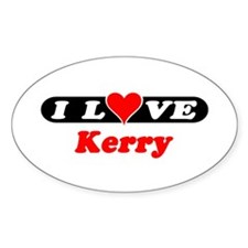 I Love Kerry Oval Decal