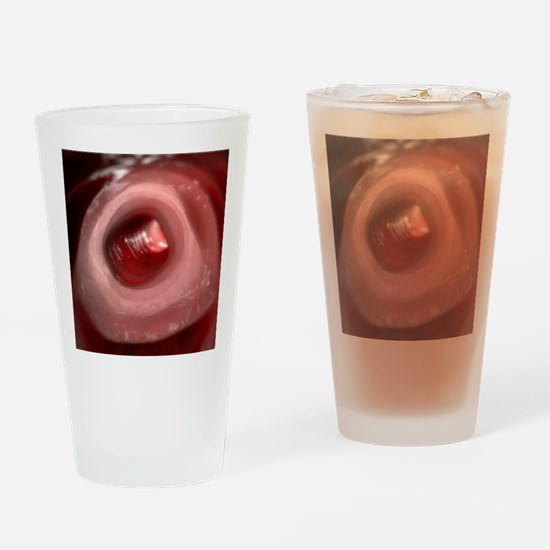 Healthy large intestine, artwork Drinking Glass
