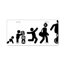 Unicycle-Rider-AAG1 Aluminum License Plate