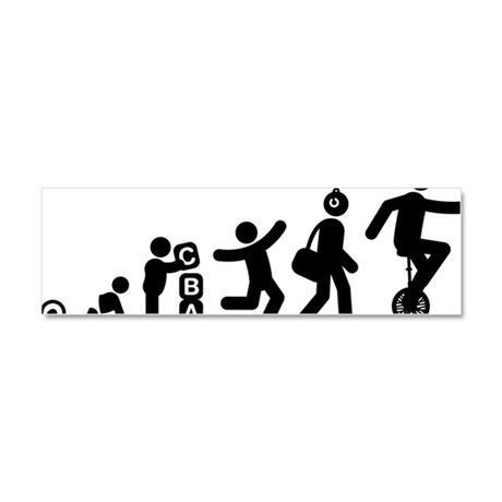 Unicycle-Rider-AAG1 Car Magnet 10 x 3