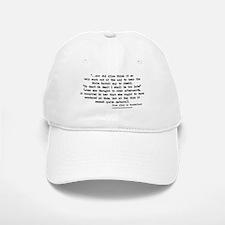 """Too Late"" Quote - Baseball Baseball Cap"