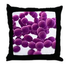 Streptococcus bacteria, artwork Throw Pillow