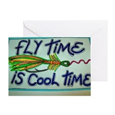 FLY TIME IS COOL TIME cartoon design Greeting Card