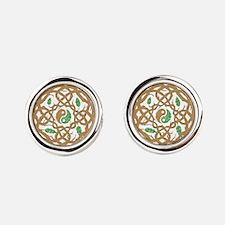 Celtic Nature Yin Yang Cufflinks