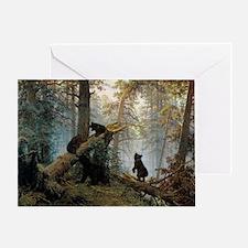 Ivan Shishkin Morning In A Pine Fore Greeting Card