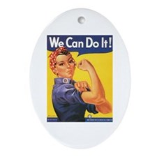 Women We Can Do It! Oval Ornament