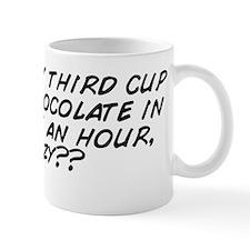 Having my third cup of hot chocolate in Mug