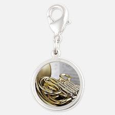 77006422 Silver Round Charm