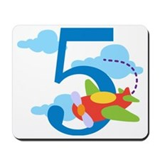 5th Birthday Airplane Mousepad