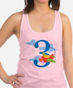 3rd Birthday Airplane Racerback Tank Top