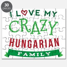 I Love My Crazy Hungarian Family Puzzle
